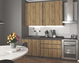 Show details for Kitchen set Halmar Idea Wotan Oak / Anthracite, 1.8 m