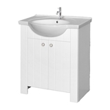 Show details for Cabinet for bathroom sink Riva SA80-10, white