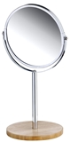Show details for Axentia Round Mirror Bamboo