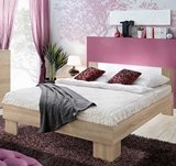Show details for ASM Vicky Bed 180 Sonoma Oak/White