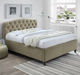 Show details for Bed Home4you Zeta Beige, 160 x 200 cm