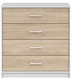 Show details for Black Red White Nepo Plus Drawer White/Sonoma Oak