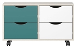 Show details for Black Red White Stanford Chest Of Drawers Grey/Turquoise