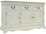 Show details for Home4you Chest Of Drawers Samira 131x43x87cm Antique White/Brown