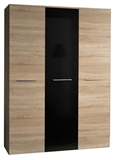 Show details for ASM Big Wardrobe Sonoma Oak/Black Gloss Door