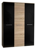 Show details for ASM Big Wardrobe Sonoma Oak/Black Gloss