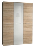 Show details for ASM Big Wardrobe Sonoma Oak/White Gloss Door