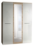 Show details for ASM Big Wardrobe w/ Mirror Sonoma Oak/White
