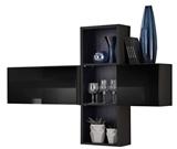 Show details for ASM Blox SB I Hanging Cabinet Set Black