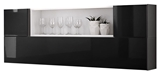 Show details for ASM Blox SB II Hanging Cabinet Set Black/White