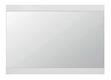 Show details for Black Red White Flames Mirror 92x66cm White