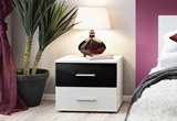 Show details for Bedside table ASM Vicky Sonoma Oak / Gloss White
