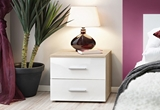 Show details for Bedside table ASM Vicky Sonoma Oak / White Gloss