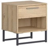 Show details for Bedside table Black Red White Gamla Wood