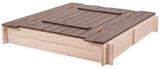 Show details for Folkland Timber Sandbox Four Corner Foldable Lid White/Graphite
