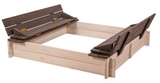 Show details for Folkland Timber Sandbox Four Corner With Foldable Lid White/Graphite