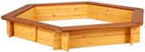 Show details for Folkland Timber Sandbox Six Corner With Removable Lid Brown/Yellow