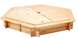 Show details for Folkland Timber Sandbox Six Corner With Removable Lid Natural