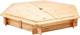 Show details for Folkland Timber Sandbox with Foldable Lid 1300x200x1300mm