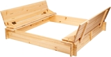 Show details for Folkland Timber Sandbox with Foldable Lid 1400x200x1400mm