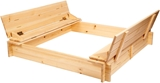 Show details for Folkland Timber Sandbox with Removable Lid 1200x200x1200mm