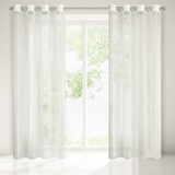 Show details for CURTAIN ASTER WHITE / FLOWERS 140X250 D