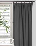 Show details for Curtain blackout gray 160x260cm