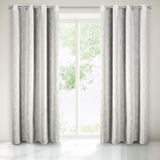 Show details for CURTAIN EZRA 140X250 WHITE RINGS N