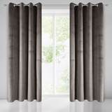 Show details for CURTAIN PEARL BROWN / FLOWERS 140X250 N