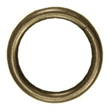 Show details for Curtain rod ring D25, gold