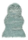Show details for Faux Fur Carpet 60x90cm Aqua