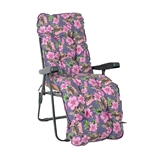 Show details for Home4you Baden-Baden Chair Cover Pink Flowers