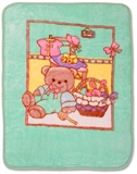 Show details for Baby Mix Blanket 80x110cm Green