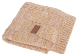 Show details for Ceba Baby Jersey Knitted Blanket 90x90cm Check Brown
