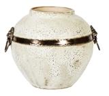 Show details for Home4you Leon Ceramic Vase 21cm White