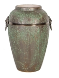 Show details for Home4you Leon Ceramic Vase 30cm Antique Green