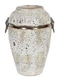 Show details for Home4you Leon Ceramic Vase 30cm Antique White