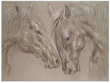 Show details for Home4you Linen Oil Painting Horses 60x120cm