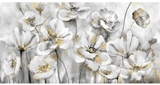 Show details for Home4you Oil Painting 50x100cm White Flowers