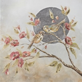 Show details for Home4you Oil Painting 60x90cm Birds On The Branch Beige