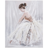Show details for Home4you Oil Painting 80x100cm Woman In White