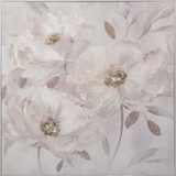 Show details for Home4you Oil Painting w/ Frame 80x80cm Flowers