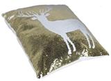 Show details for Glitter Decorative Pillow Deer 40x40cm