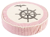 Show details for Home4you Beach House Cushion D40xH9cm Pink With Anchor