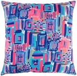 Show details for Home4you Cushion Summer 45x45cm Blue/Pink