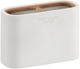 Show details for Gedy Ninfea Toothbrush Holder White/Bamboo 1398-02