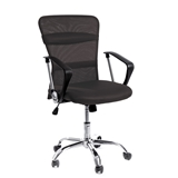 Show details for AEX CHROME CHAIR. BLACK