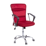Show details for AEX CHROME CHAIR. RED