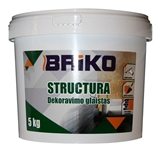 Show details for PUTTY DECORATION STRUCTURE 5kg BRIKO