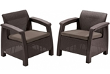 Show details for Garden chair Keter Corfu Duo, brown, 75x70x79 cm